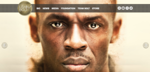 Usain Bolt website screenshot