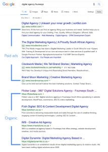 organic and paid search